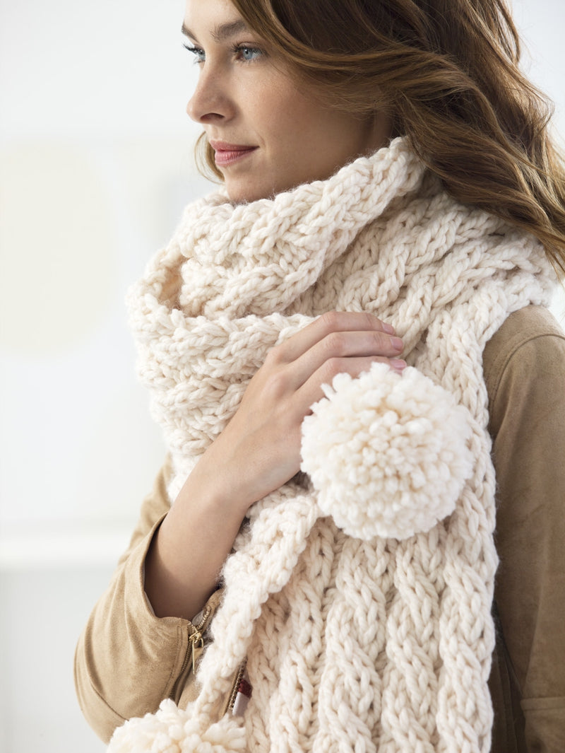 Easy Cabled Scarf (Knit)
