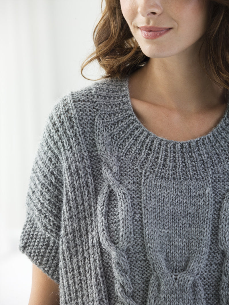 Modern Cable Pullover (Knit)