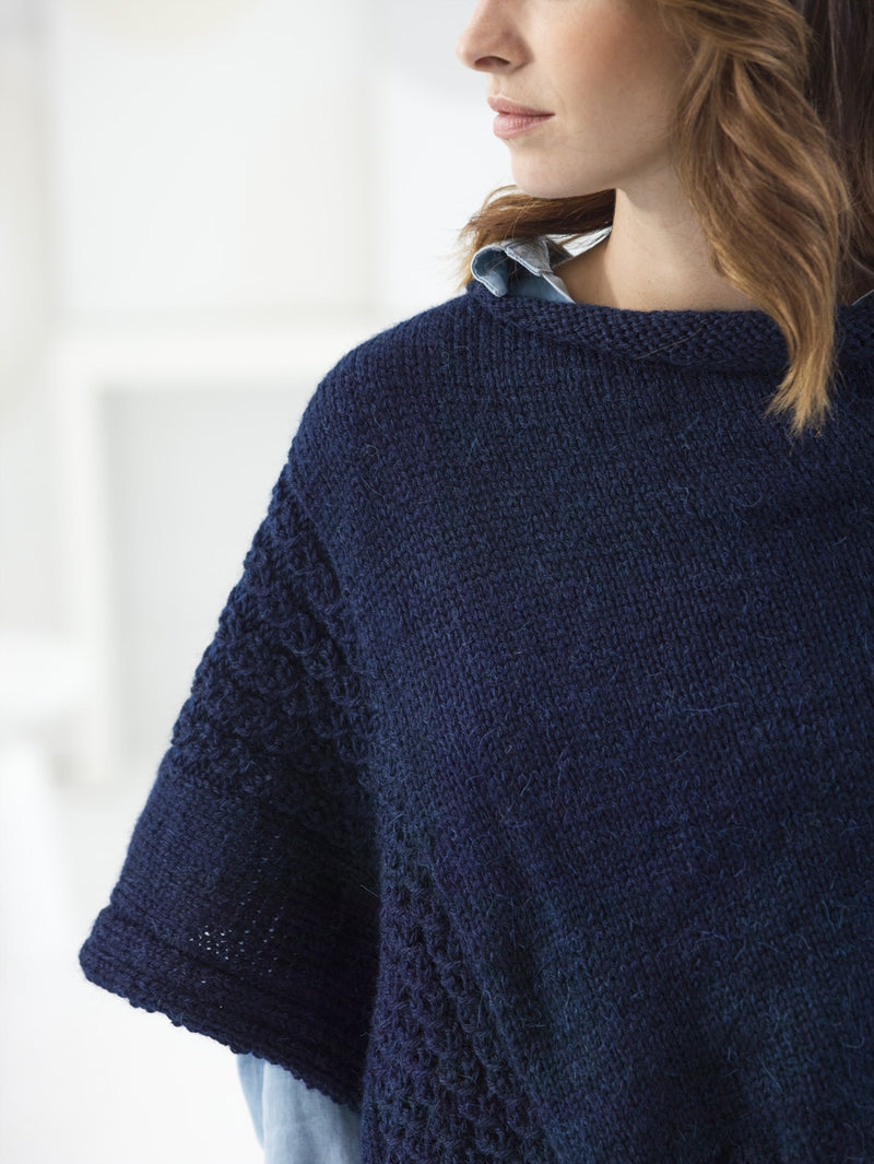 Virtual Cable Poncho (Knit)