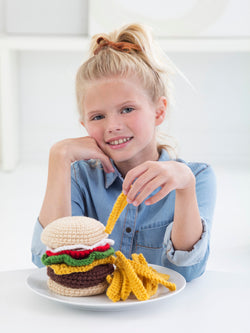 Cheeseburger And Fries (Crochet)