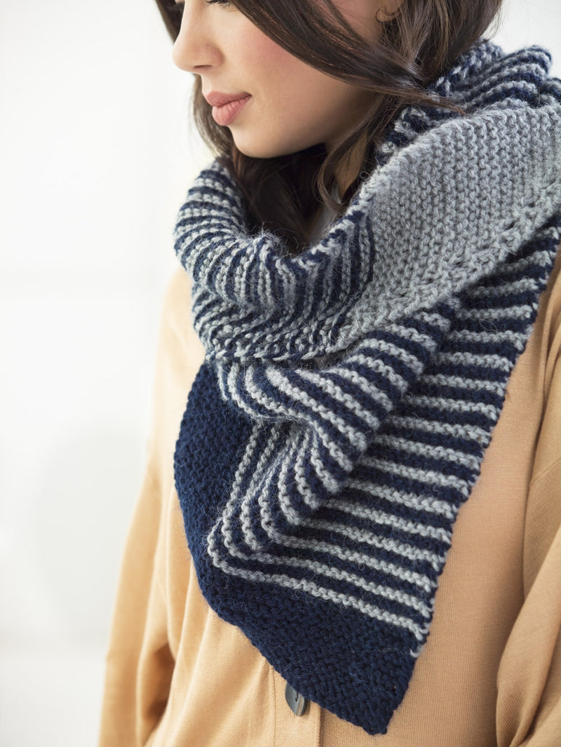 Modern Striped Scarf (knit)