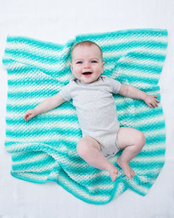 Textured Baby Afghan (Knit)