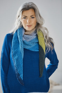 Easy Triangle Shawl (Knit)