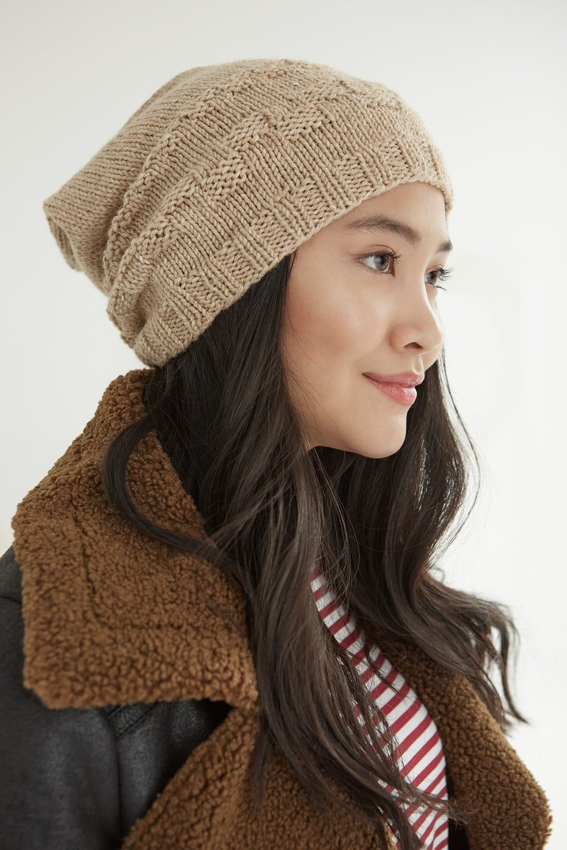 Checkmate Slouch Hat (Knit)