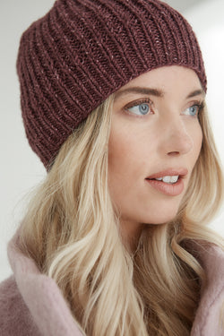 Slouch Rib Hat (Knit)