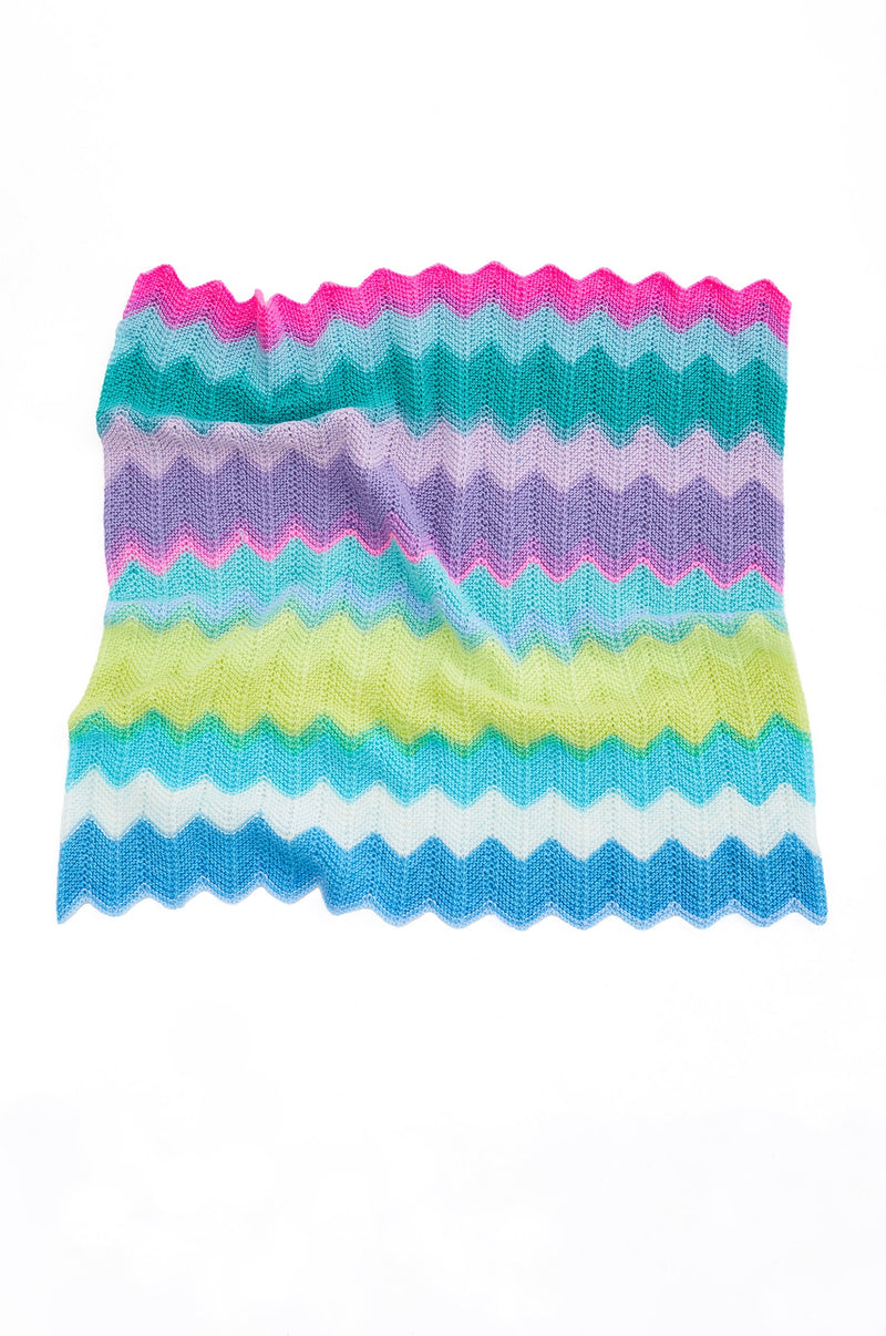 Chevron Baby Afghan (Knit)