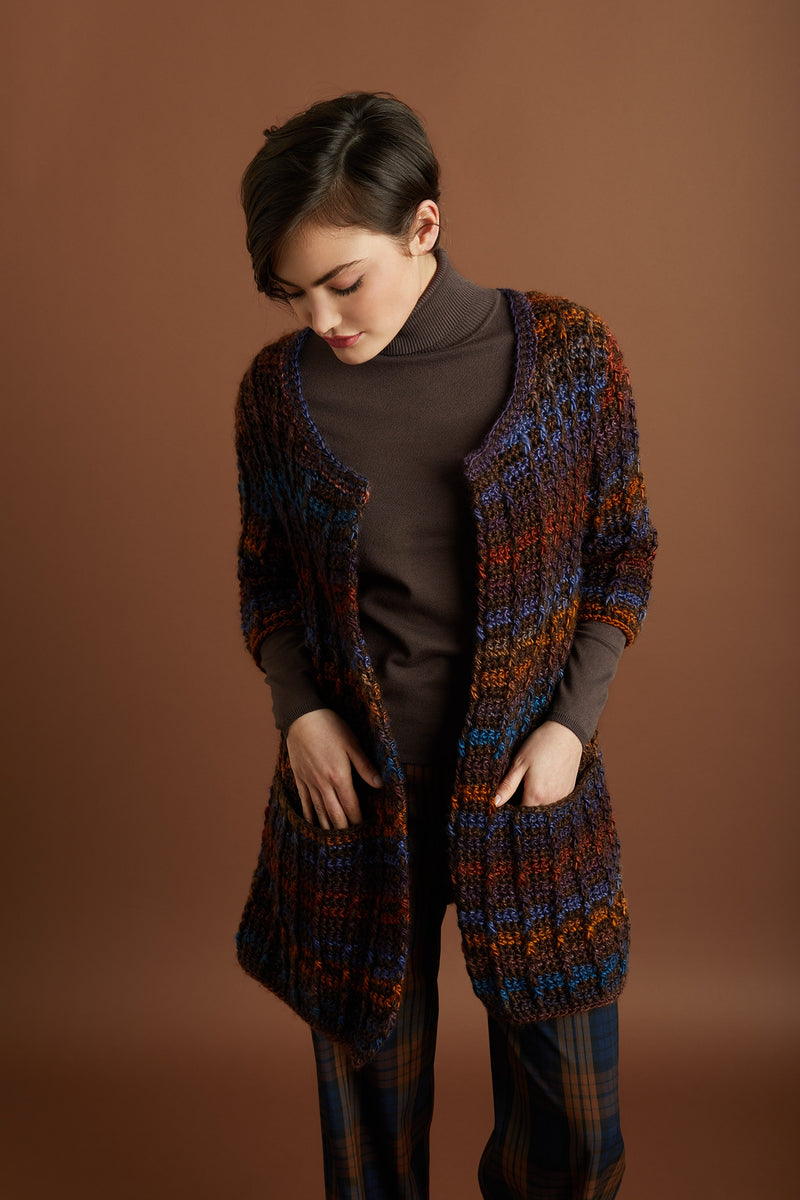 Colorfully Modern Cardigan (Crochet)