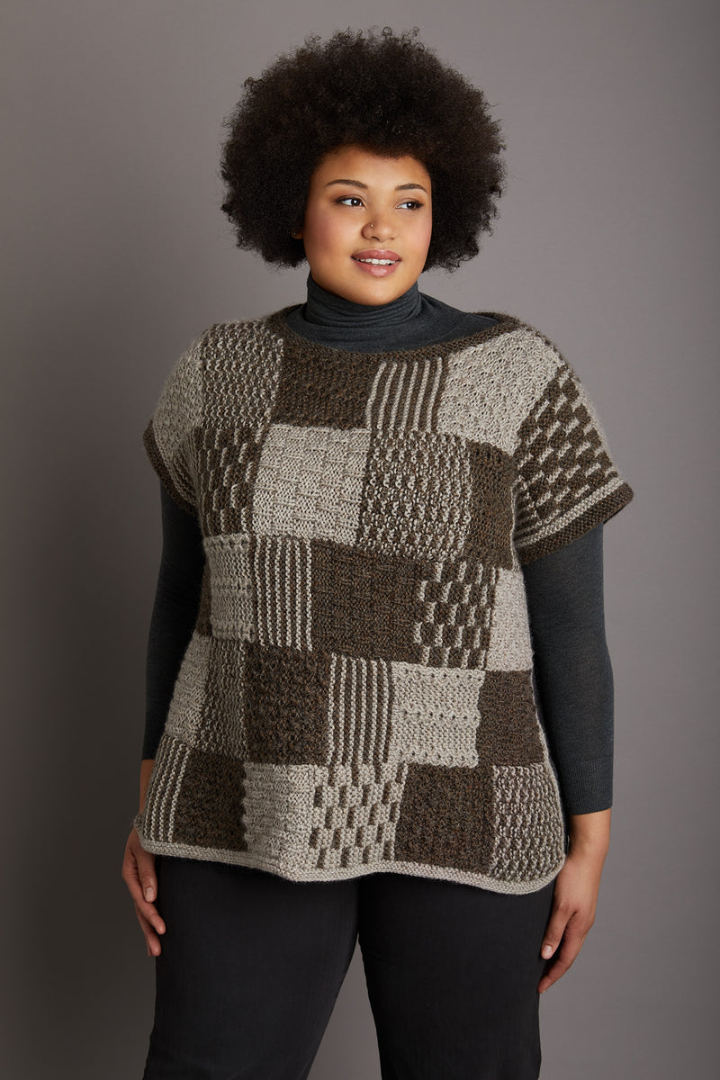 Stitch Pattern Poncho (Knit)