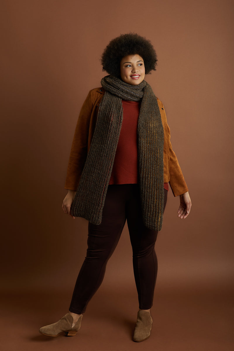 Fisherman Rib Scarf (Knit)