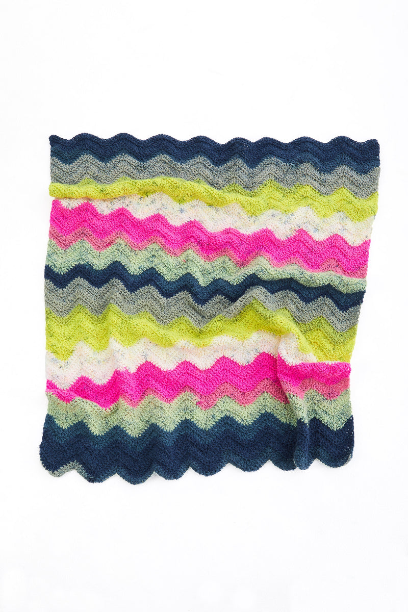 Shaded Ripple Baby Afghan (Crochet)