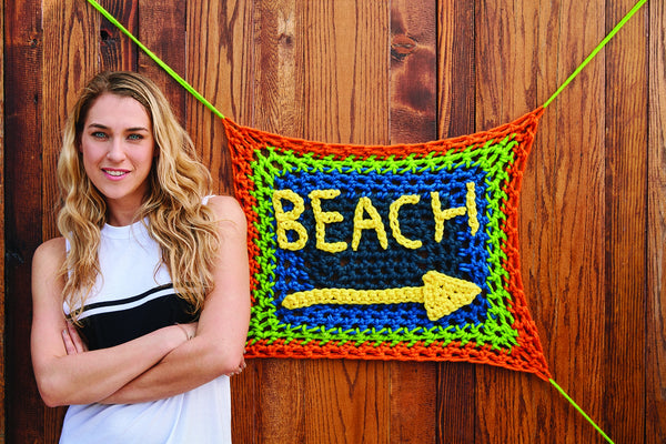 London Kaye Beach Banner (Crochet)