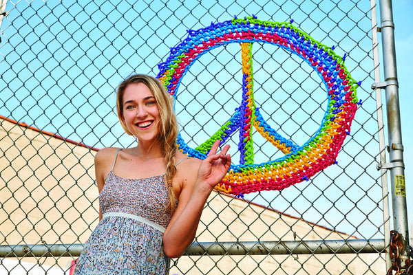London Kaye Large Peace Sign (Crochet)