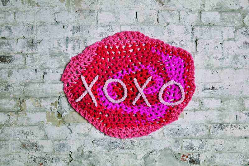 London Kaye Xoxo Banner Crochet Lion Brand Yarn