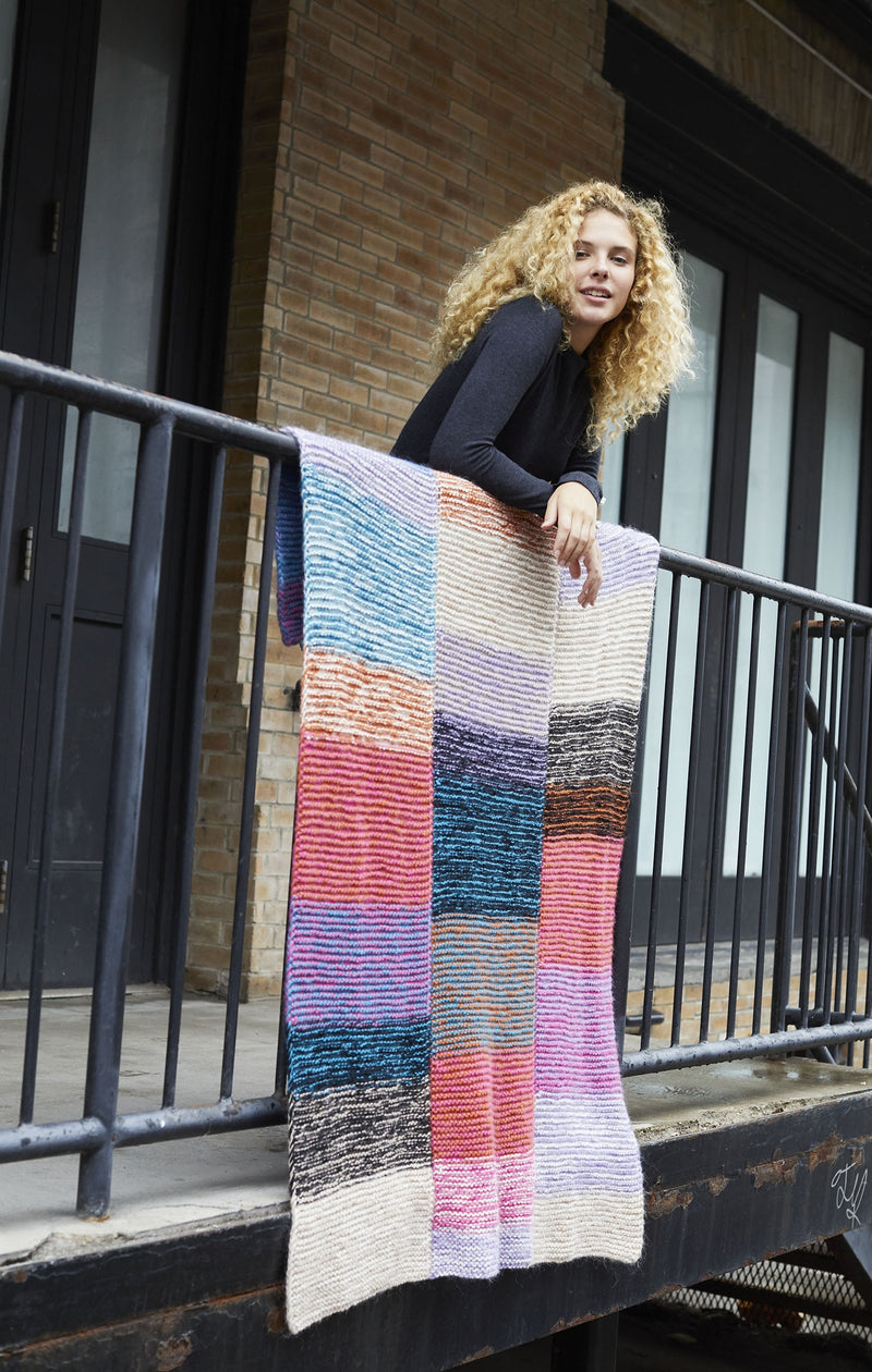 Highgate Tweedy Afghan (Knit