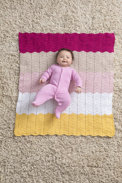 Happy Baby Ripple Afghan (Crochet)