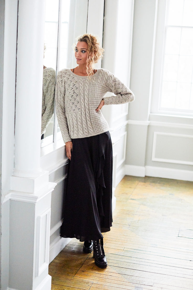 Slouchy Sampler Sweater (Knit)