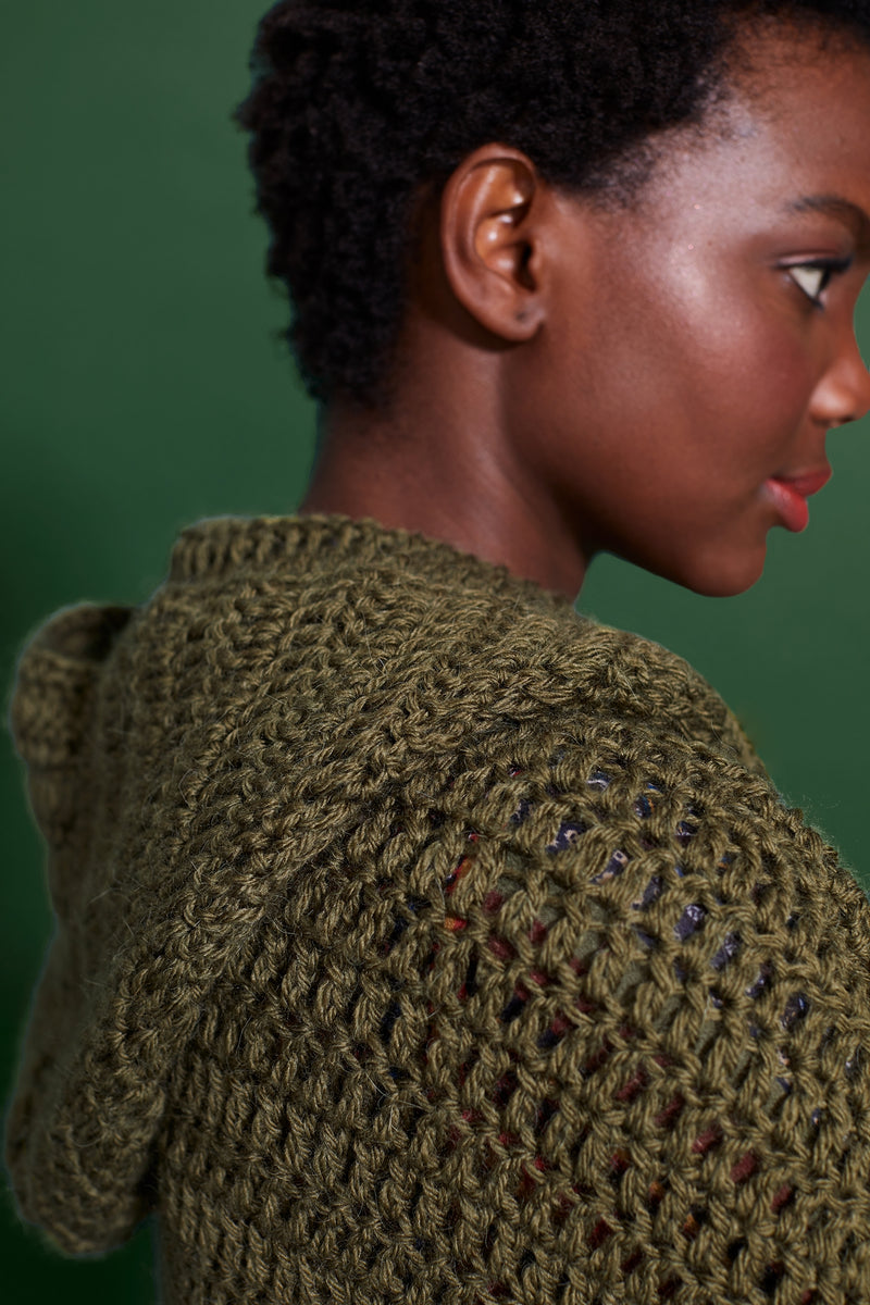 Balham Hooded Cardigan (Crochet)