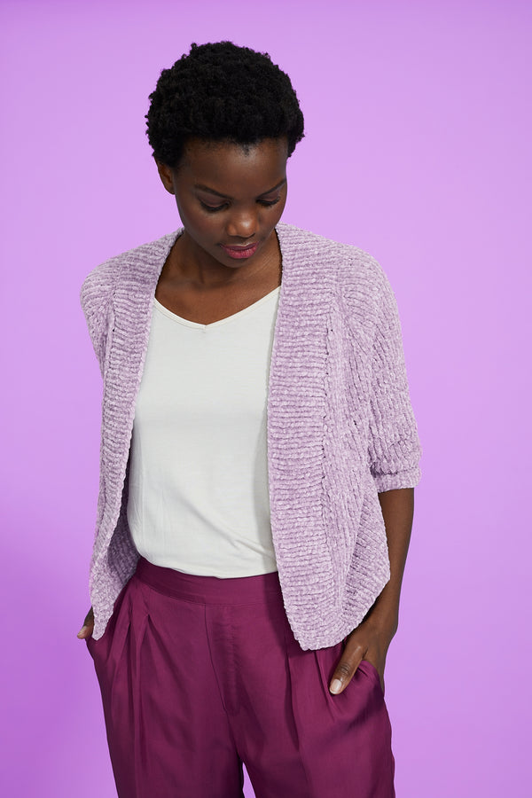 Camb Cropped Cardigan (Knit)
