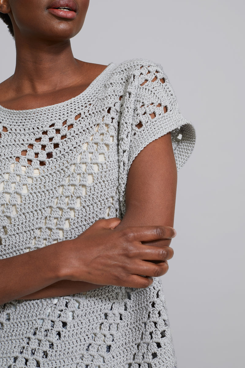 Diagonal Eyelet Top (Crochet)