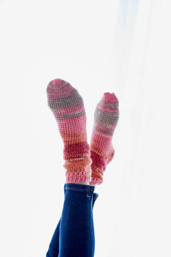 Bush Hill Crochet Socks (Crochet)