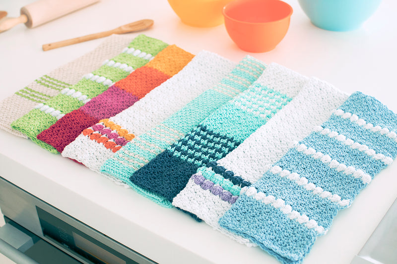 4-Color Cluster Dish Towel (Crochet)