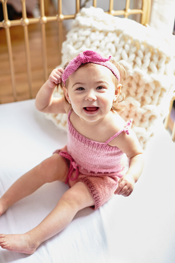 Beatrix Onesie and Headband (Knit)