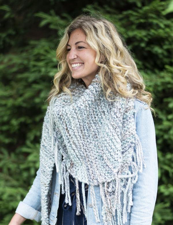Fringed Statement Shawl (Knit)