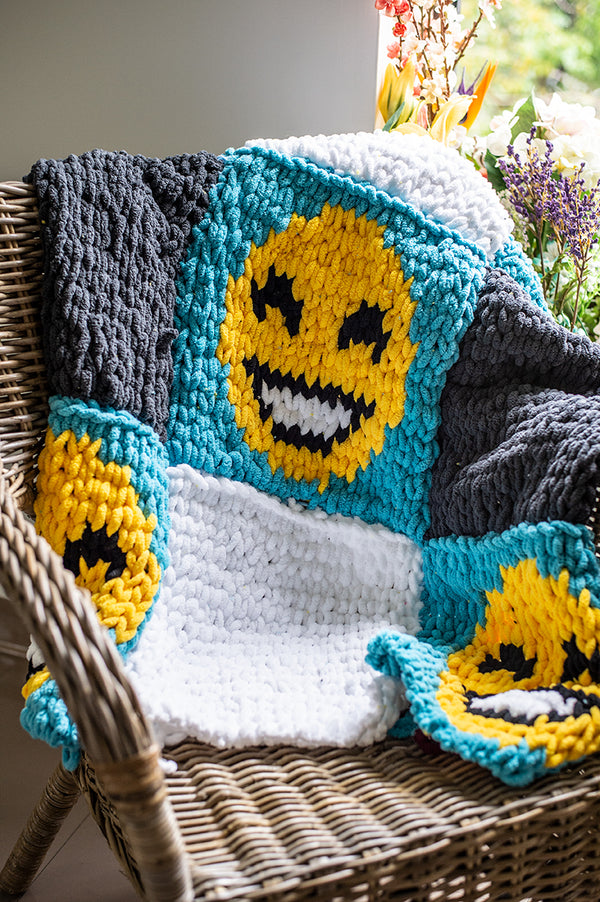 Magic Emoji Afghan