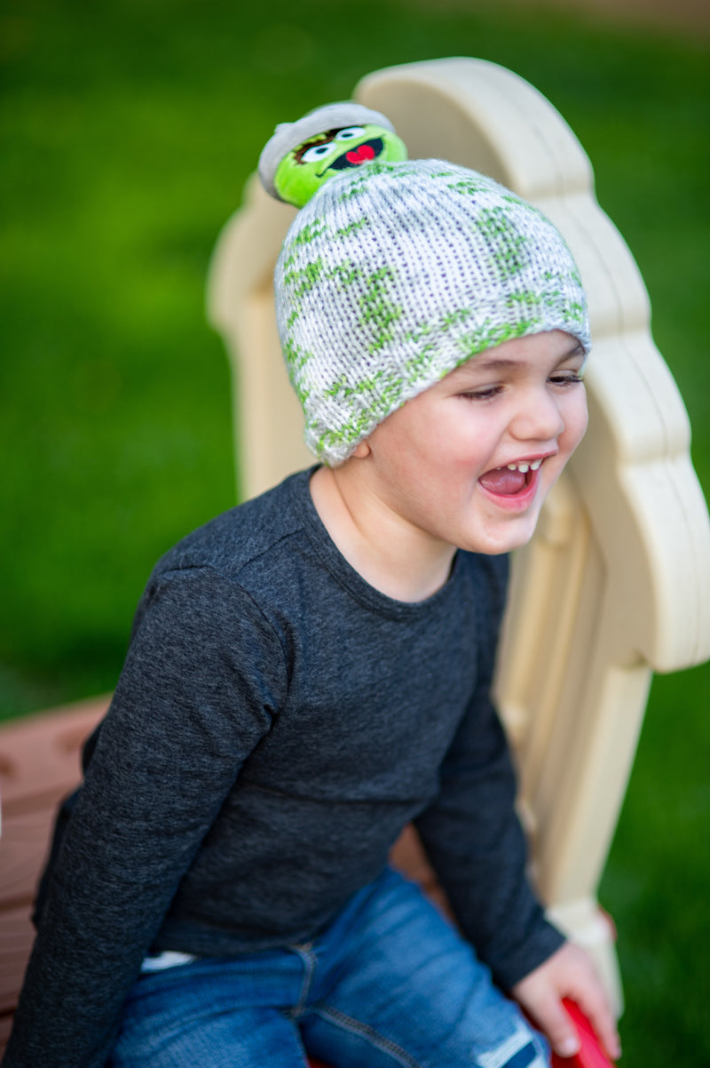 Oscar The Grouch Knit Hat