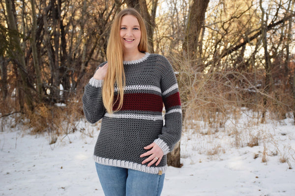 Striped Belle Sweater (Crochet)