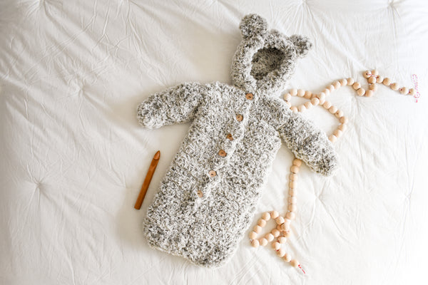 First Snow Baby Bunting (Crochet)