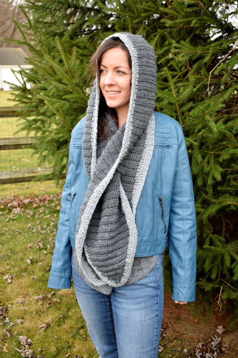 Hooded Scarf With Keyhole (Crochet)