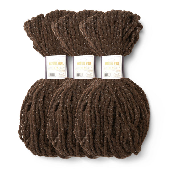 LB Collection® Natural Wool Yarn (Pack of 3)