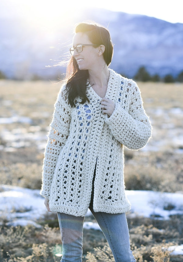 Crochet Kit - Light Snow Oversized Cardi