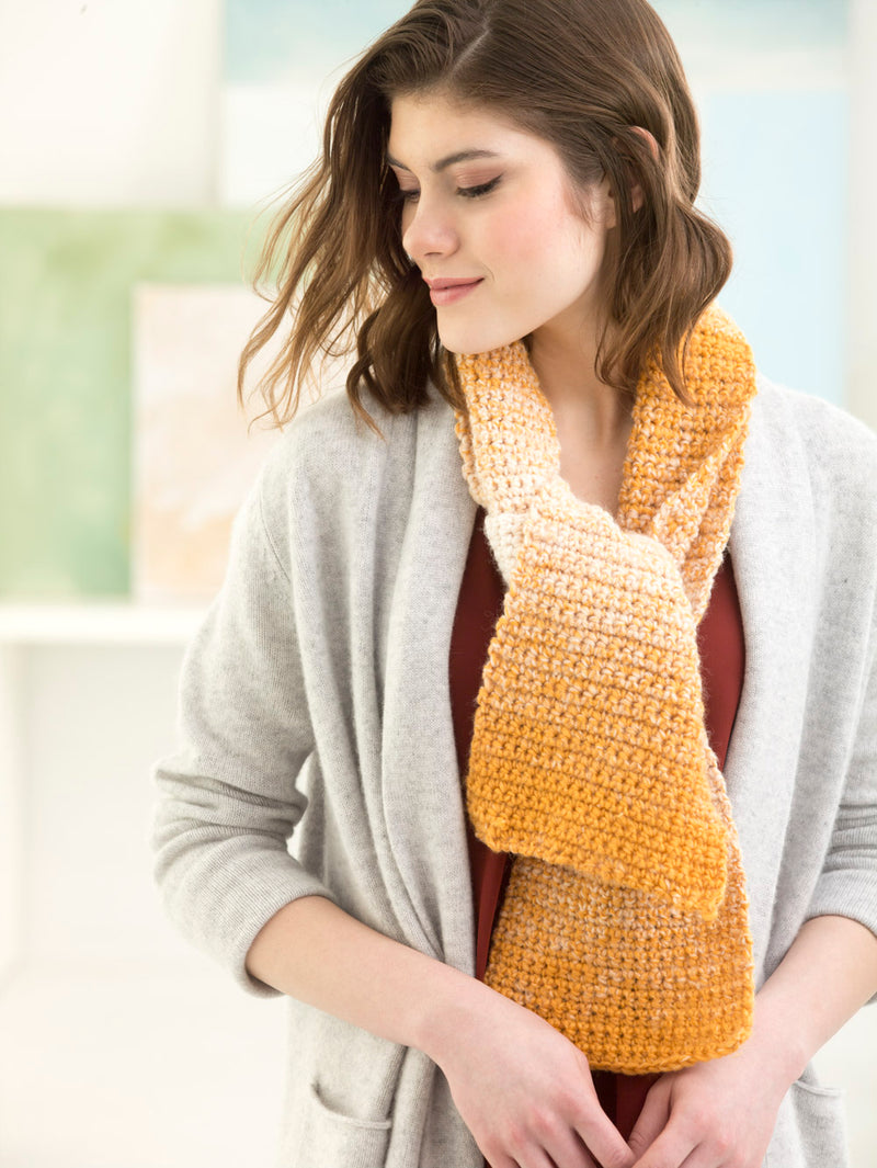 Easy Crochet One-Stitch Scarfie