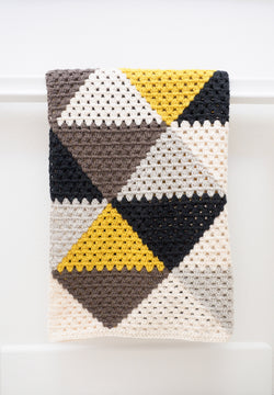 Crochet Kit - Love Triangles Afghan