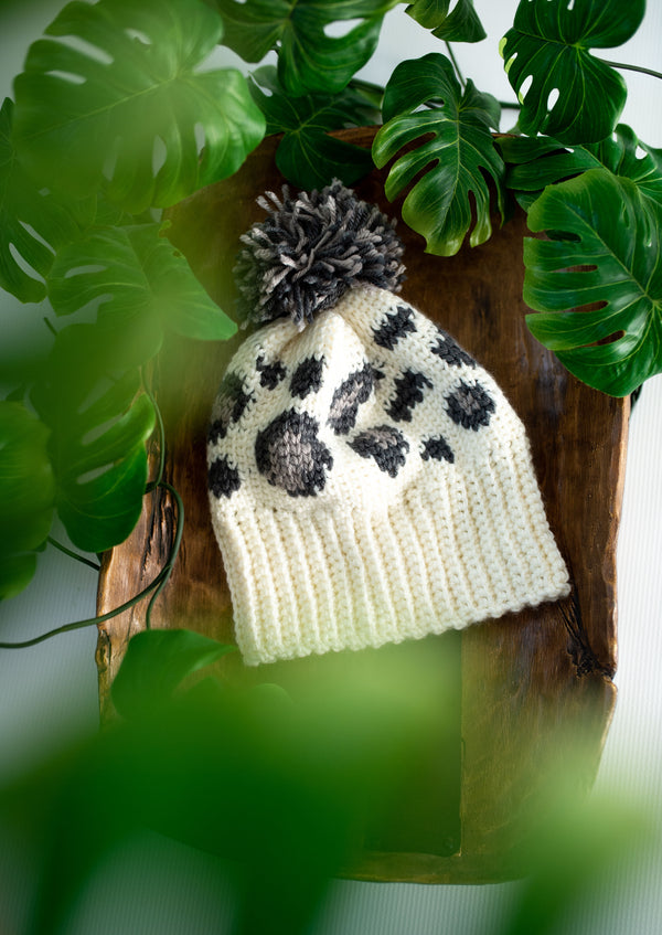 Snow Leopard Hat (Crochet)