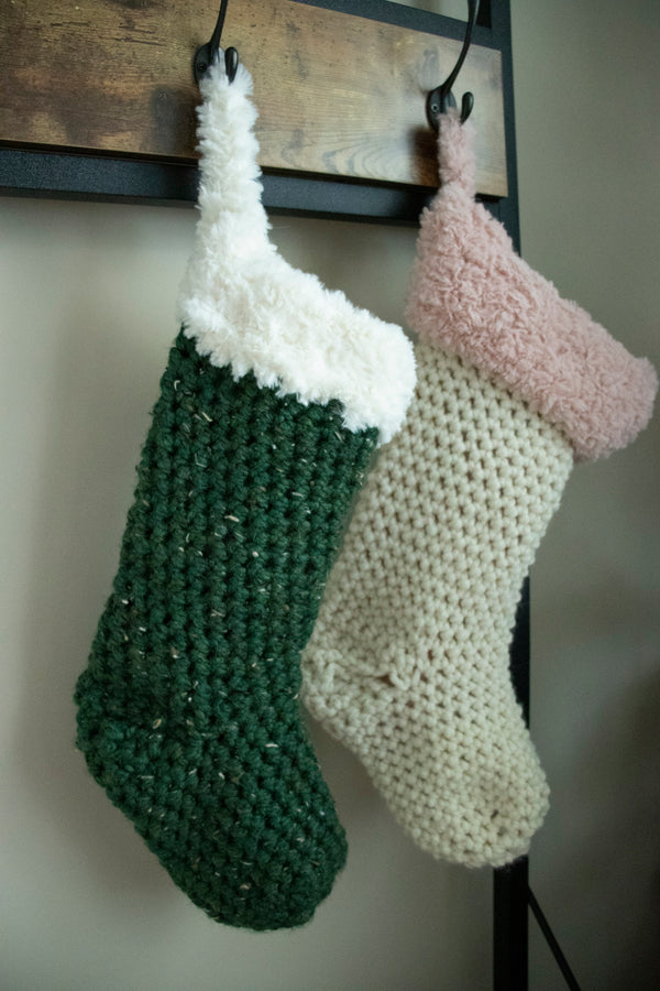 Luxe Holiday Stocking (Crochet)