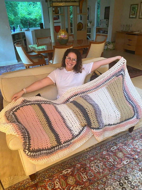 Shi's Freeform Blanket (Crochet)