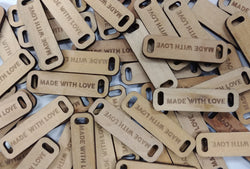 MADE WITH LOVE Wooden Tag