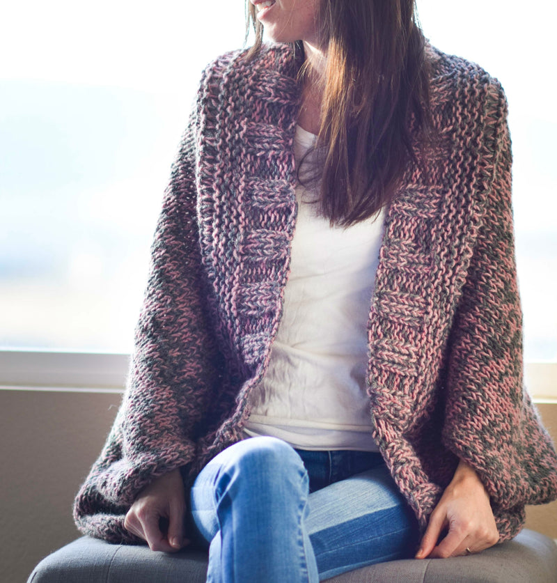 Knit Kit - Easy Relaxed Marled Cardigan