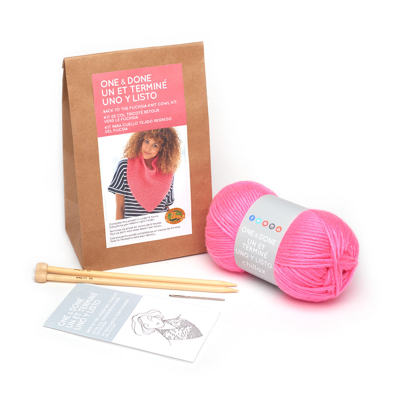 One & Done Kits - Back to the Fuchsia Knit Cowl