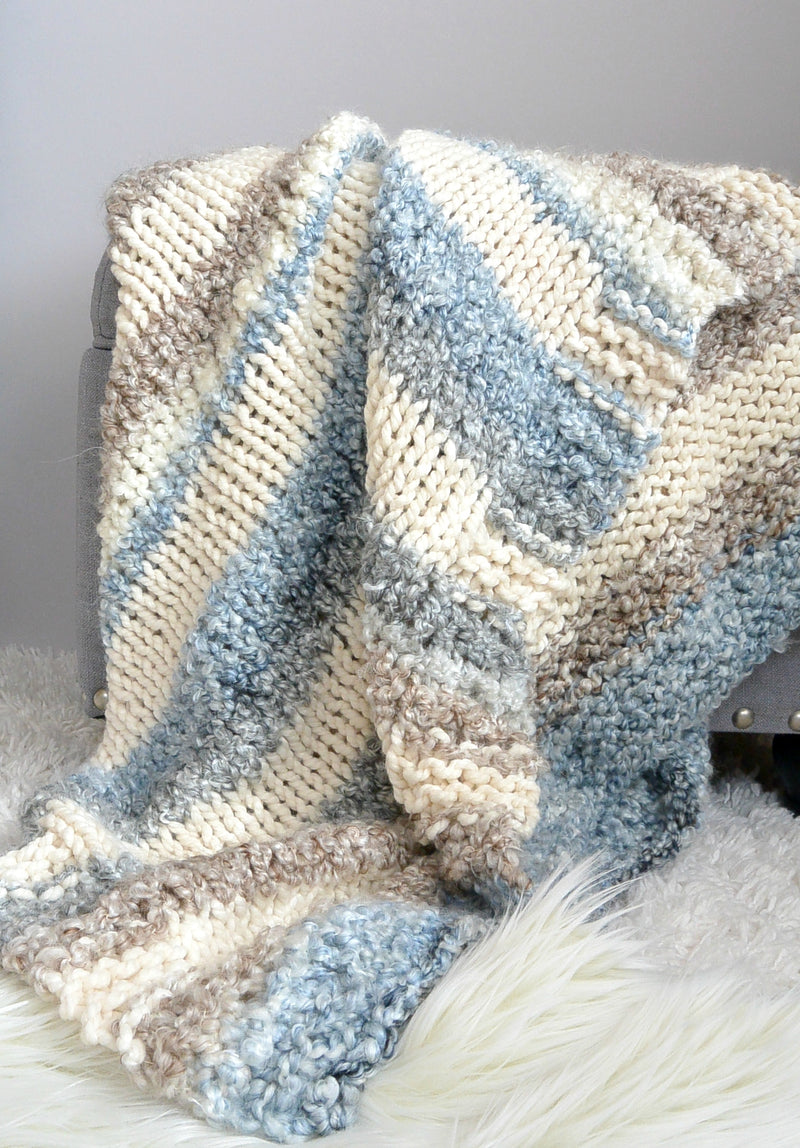Knit Kit - Quick and Cuddly Little Knit Throw