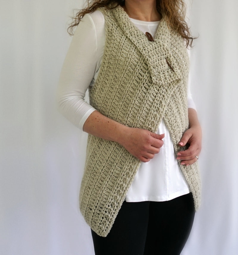 Crochet Kit - Simple Waterfall Vest