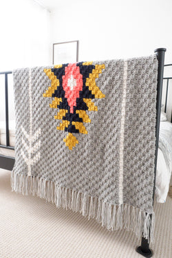 Crochet Kit - Southwest-Inspired Sunburst Afghan
