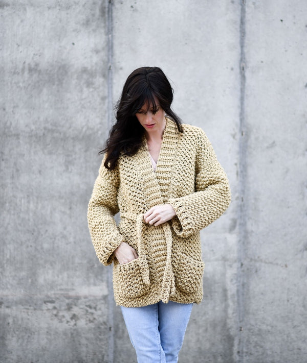 Crochet Kit - Sweater Coat Cardigan