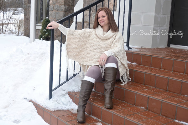 Crochet Kit - Urban Cabled Poncho