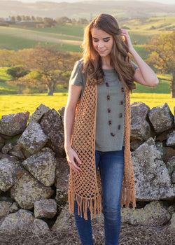Crochet Kit - Whispering Birch Bohemian Vest
