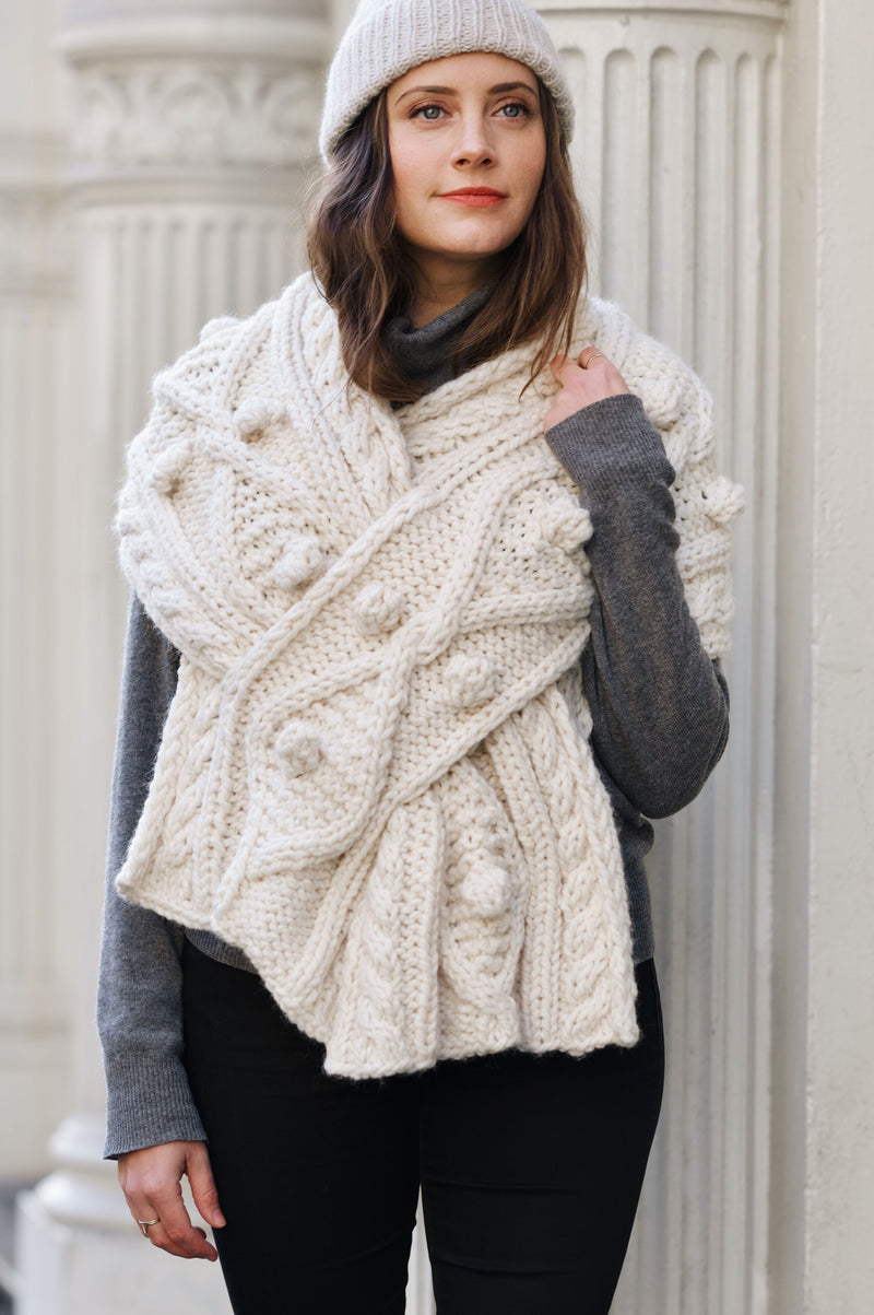 Knit Kit - Kensington Cable Wrap