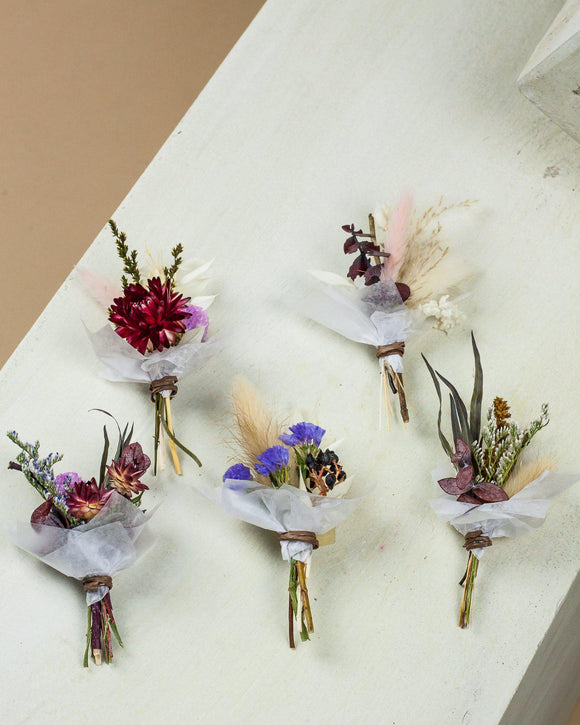 DRY TINY POSIES (set of 5)-Metaflorist